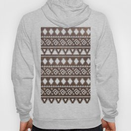 Vintage rustic brown leather white tribal pattern Hoody
