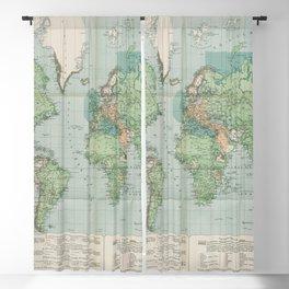 Flemmings Kriegskarten / Flemming's War Maps (1917) - 037 Map of the World, 1917 Blackout Curtain