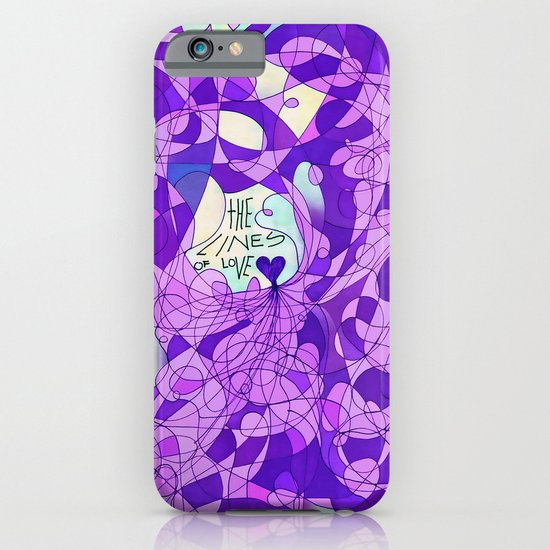The Lines of Love. iPhone & iPod Case