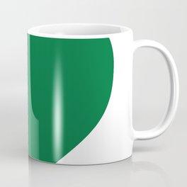 Heart (Olive & White) Coffee Mug