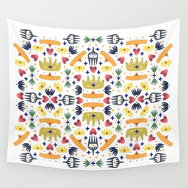 Crown Folk Wall Tapestry