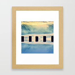Surf breaker Framed Art Print