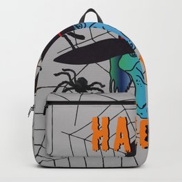 turquoise Witch Happy Halloween Backpack