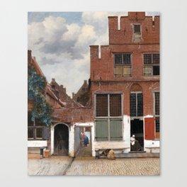 Johannes Vermeer - The Little Street Canvas Print