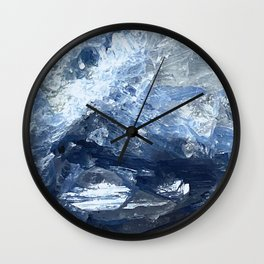 Blue Kyanite Crystal Wall Clock