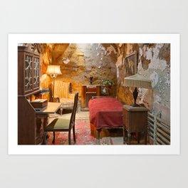 Al Capone's Luxurious Prison Cell Art Print