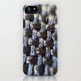 Microscopic photographY woven black vinyl material iPhone Case