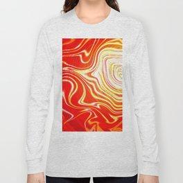 Radiating Waves Warm Long Sleeve T-shirt