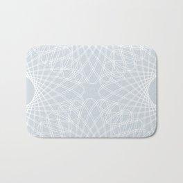 mathematical rotating roses - ice gray Bath Mat
