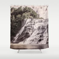 geology Shower Curtains featuring Waterfall in all its beauty by Find a Gift Now