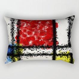 Mondrian with a twist Rectangular Pillow