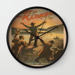 Vintage poster - Heart of the Klondike Wall Clock