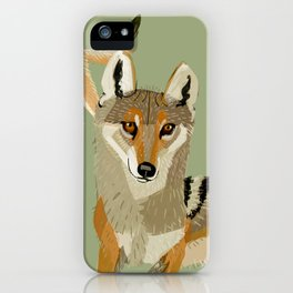 Totem Indian Wolf iPhone Case