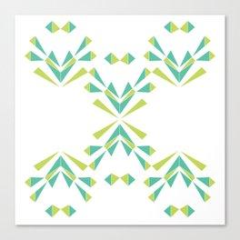 Green Lattice, green leaves Canvas Print