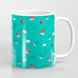 Teal Whale Shark and Shark Coffee Mug