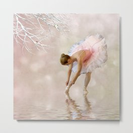 Dancer in Water Metal Print