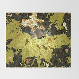 Abstract leaves mosaik Throw Blanket