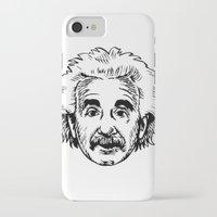 einstein iPhone & iPod Cases featuring EINSTEIN by James Vickery