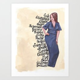 Blue Affirmations! Art Print