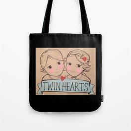 Twin Hearts Tote Bag