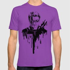 Avengers in Ink: Hawkeye Ultraviolet LARGE Mens Fitted Tee
