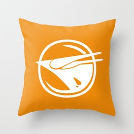 Rebel Phoenix orange Throw Pillow