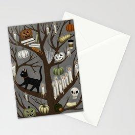 halloween tree Stationery Cards