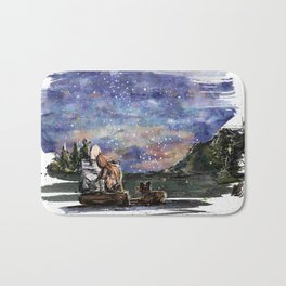 Love, sky and mountains Bath Mat