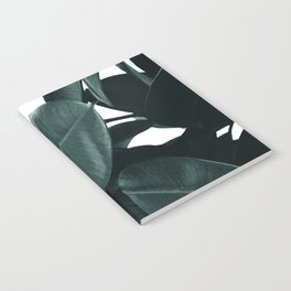 Dark Green Rubber Plant Notebook