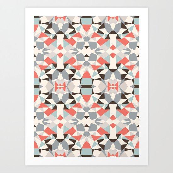 Mod Hues Tribal Art Print