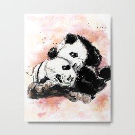 Two pandas Metal Print