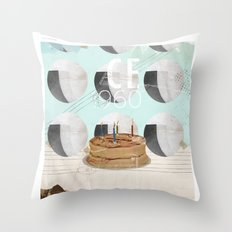 50th anniversary of the city of Brazil Throw Pillow