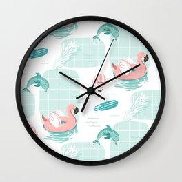 Summer pattern Wall Clock