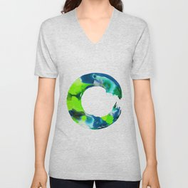 Enso Enlightenment  No.1j by Kathy Morton Stanion Unisex V-Neck