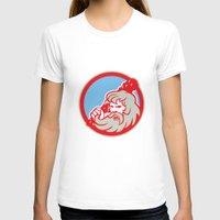 hercules T-shirts featuring Hercules Wielding Club Circle Retro by patrimonio