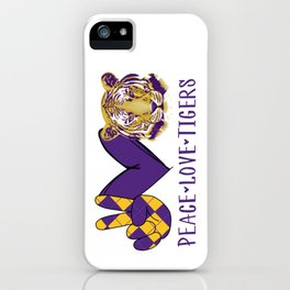 Peace love tigers iPhone Case