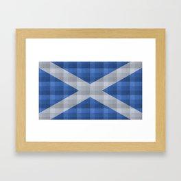Saltire Duncarron Plaid Framed Art Print
