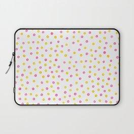Yellow and pink polka dots Laptop Sleeve