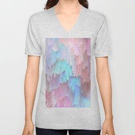 Pastel Glitches Fall Unisex V-Neck