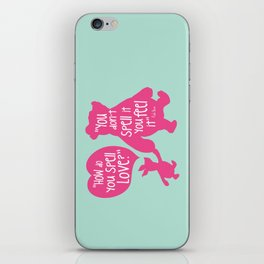 How do you Spell Love, You Don't Spell it You Feel it - Winnie the Pooh  iPhone Skin