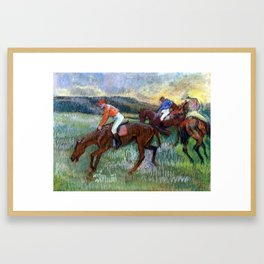Edgar Degas Race Horses Framed Art Print
