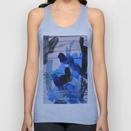 Abstract Blue Unisex Tank Top