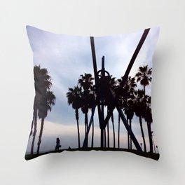K Town Beach Throw Pillow