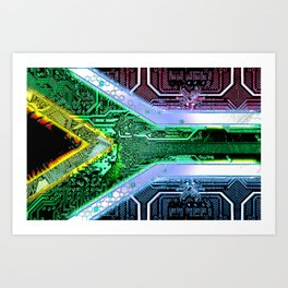 circuit board South Africa (Flag) Art Print