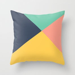 Pastel Colors Throw Pillow