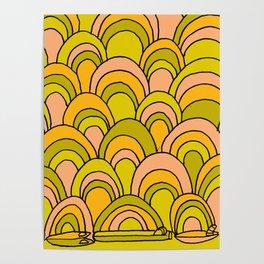 surfboard quiver 70s wallpaper dreams Poster