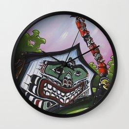 Mungo Martin House Wall Clock