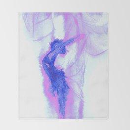 Pinky Blue Spirit Throw Blanket