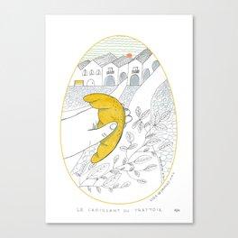Il croissant per strada _ 6\34 _ Viola Gesmundo _ Piccoli piaceri della vita Canvas Print