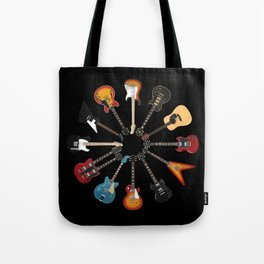Guitar Circle Tote Bag